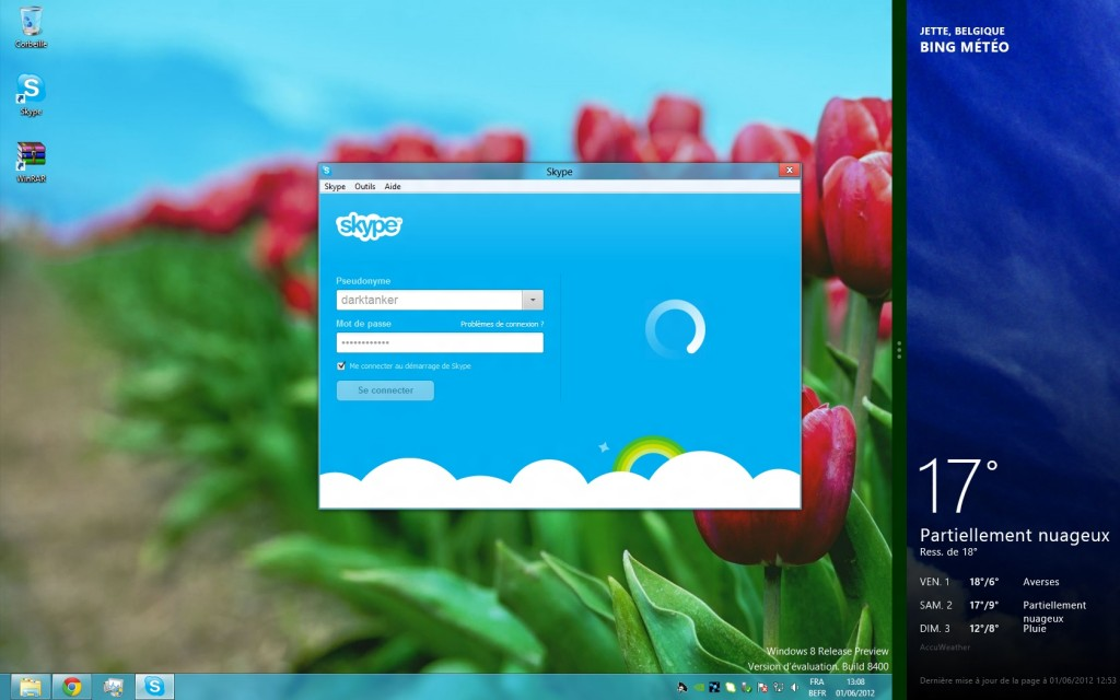 How to activate Windows 8 with Skype?