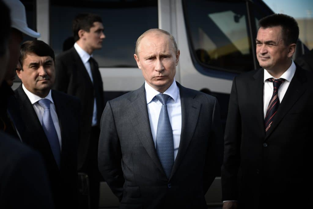 Putin with his bodyguards